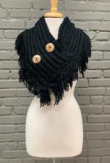 Scarf Crochet Knit Button Scarf