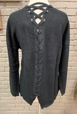 Cardigan Black Back Lacing Cardi