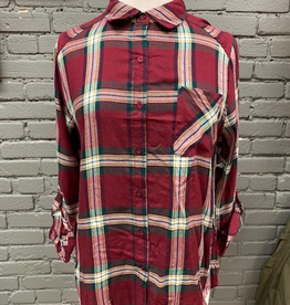 ButtonDown Burg Plaid Button Down
