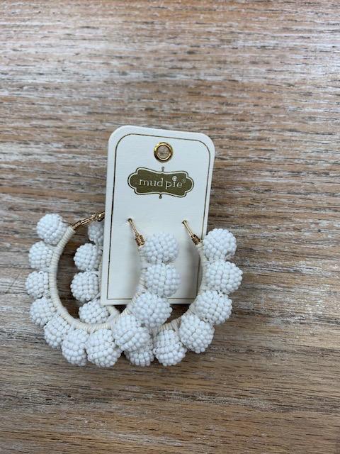 Jewelry Beaded Hoop Earrings