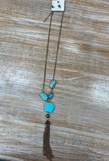Jewelry Big Teal Stone Necklace