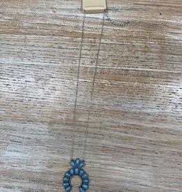 Jewelry Turq Squash Blossom Necklace