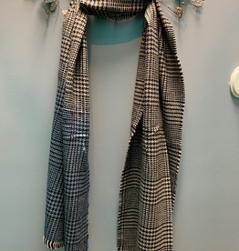 Scarf Glen Check Hem Dyed Scarf