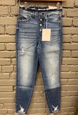 Jean Karen HighRise Skinny Fray Jeans