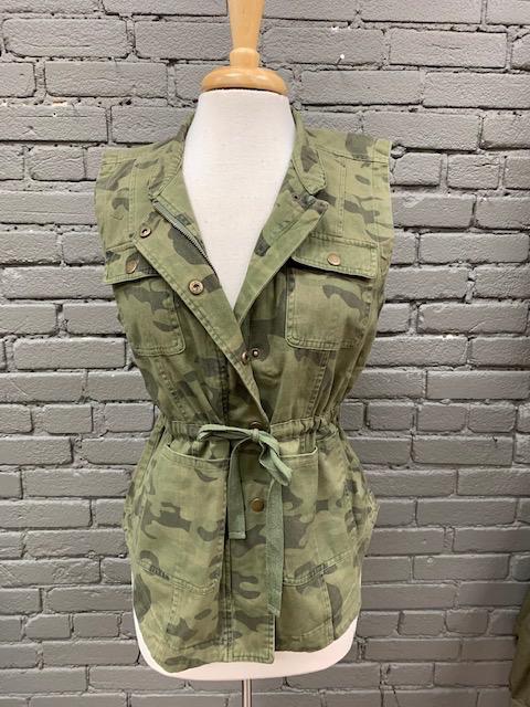 Vest Green Camo Dean Utility Vest
