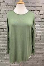 Long Sleeve Olive Crossed Back LS