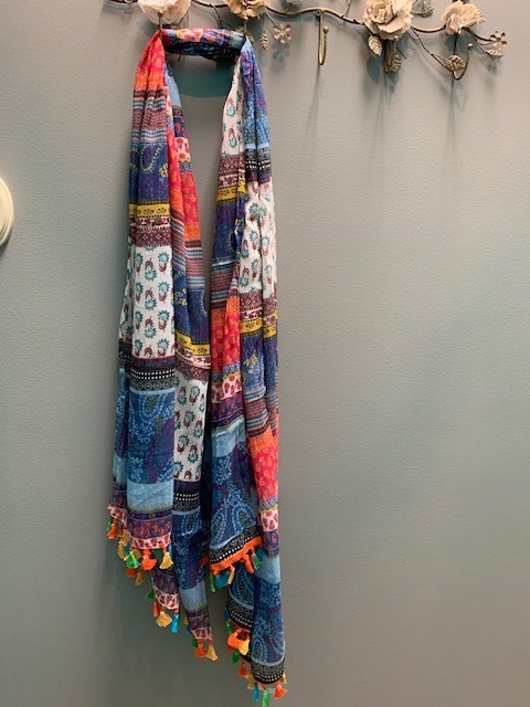 Scarf Multi Color Paisley Scarf