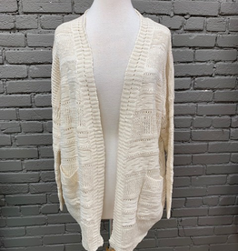 Cardigan Natural Pocket Knit Cardi