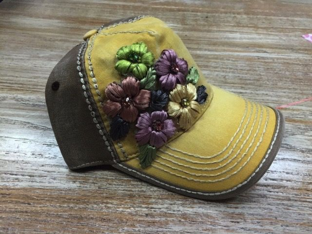 Hat Floral Embellished Cap