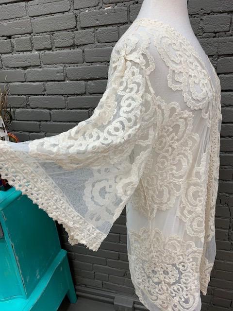 Kimono Natural Lace Kimono