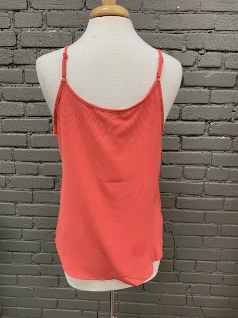 Tank Coral Tank w/ Front Tie