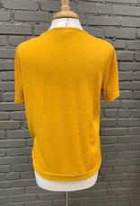 Top Mustard VNeck w/ Clasp Top