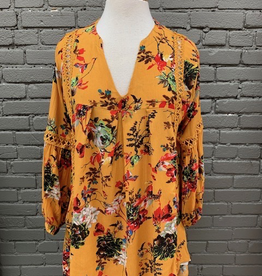 Long Sleeve Mustard Floral LS