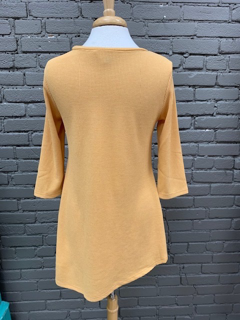 Tunic Mustard 3/4 Lace Tunic