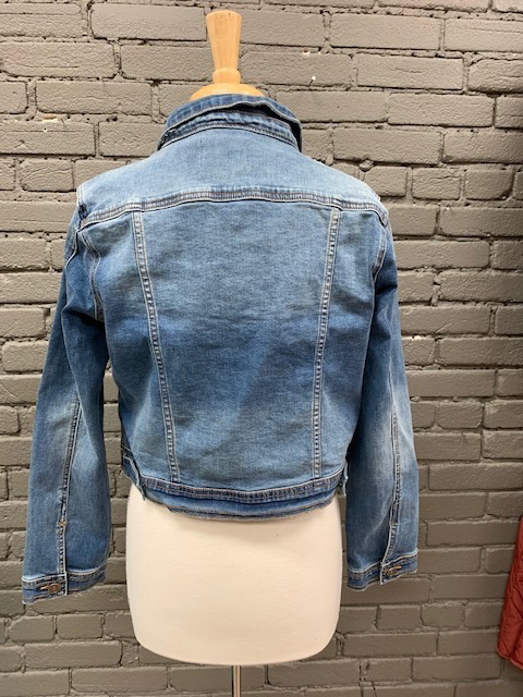 Jacket Medium Denim Button Jacket