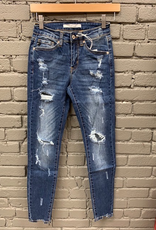 Jean Holly Ripped Mid Skinny Jean
