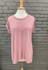 Top Mauve Back Tie Rolled Top