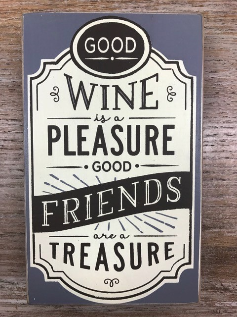 Decor Good Wine Good Friends Wall Art 5x8.5""