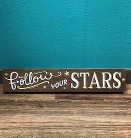 Decor Follow Your Stars Wall Art 4.5x24""