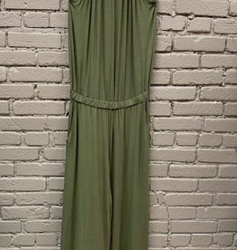 Jumpsuit Olive Halter Neck Jumpsuit