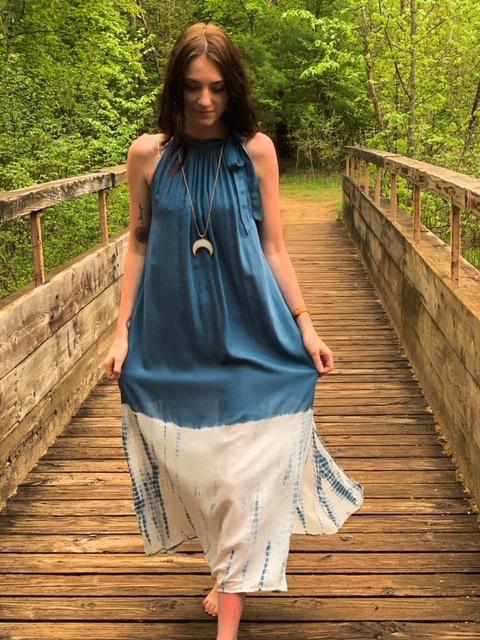 Dress Karen Maxi Stonewash Dress