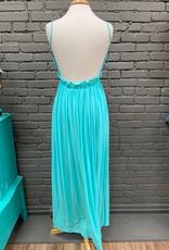 Dress Teal Lace Top Maxi Dress