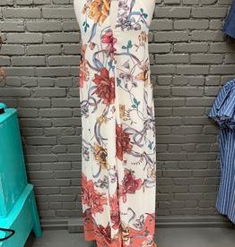 Dress Ivory Floral Halter Maxi Dress