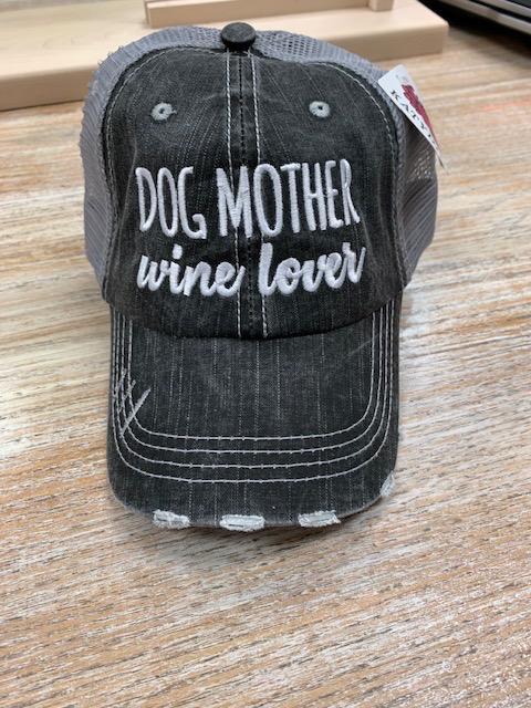 Hat Dog Mother Wine Lover Hat