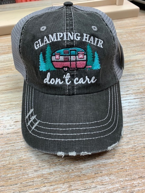 Hat Glamping Hair Don't Care Hat