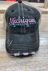 Hat Black Michigan Hat