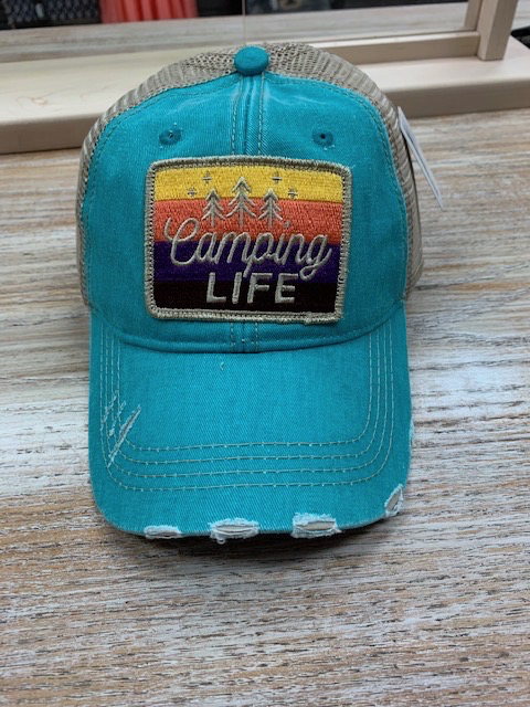 Hat Teal Camping LIfe Hat