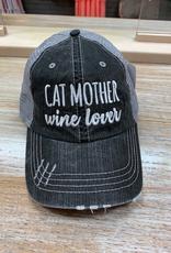 Hat Cat Mother Wine Lover Hat