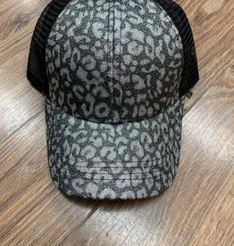 Hat CC Leopard Glitter Trucker Cap
