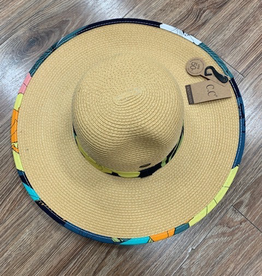 Hat CC Floral Straw Hat