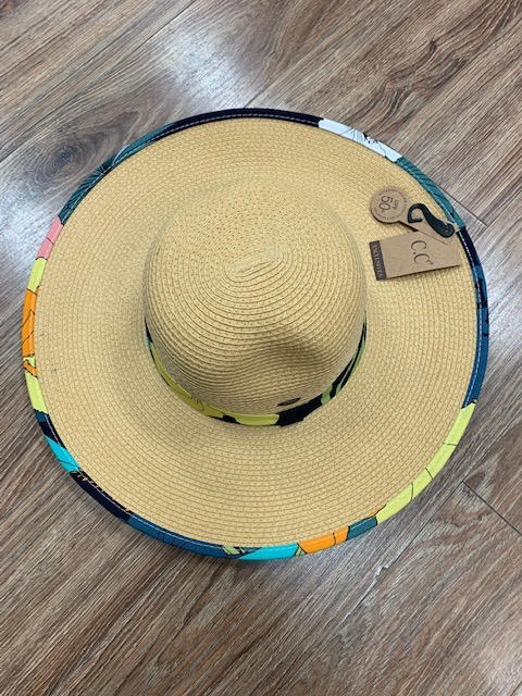 Hat CC Floral Straw Hat