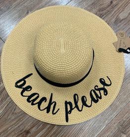 Hat CC Straw Beach Please Hat