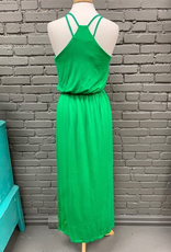 Dress Green Crisscross Maxi Dress