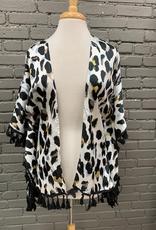 Kimono Leopard Tassel Kimono