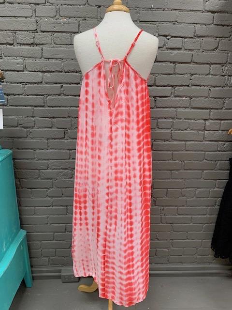 Dress Red Tie Dye Maxi Dress