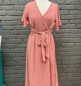 Dress Rose Polka Dot Dress
