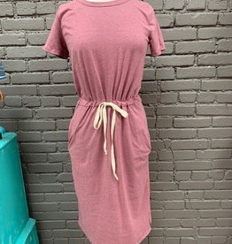 Dress Wine Drawstring TShirt Dress