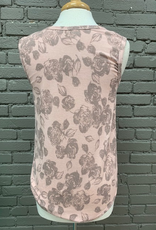 Tank Blush Floral Knotted Tank