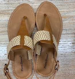 Shoes Camel Fabric Strap Sandals