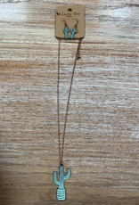 Jewelry Copper Cactus Necklace w/ Earrings
