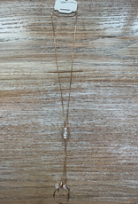 Jewelry Gold Chain Necklace w/ Circles
