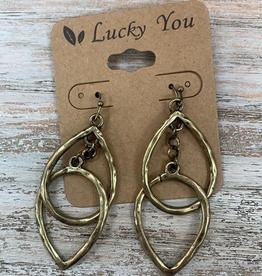 Jewelry Gold Teardrop Earrings