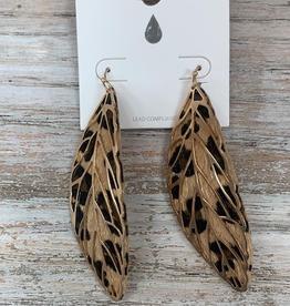 Jewelry Leopard Leaf Earrings