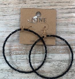 Jewelry Black Hoop Earrings