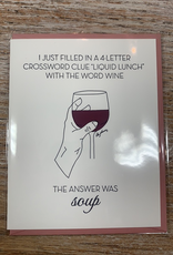 Card Wine Soup Card