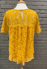Top Goldie Lace Keyhole Top